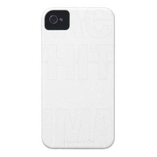 Coque Case-Mate iPhone 4 Humain blanc noir - nous sommes tous les êtres