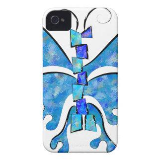 Coque Case-Mate iPhone 4 Icelonius - papillon bleu de glace