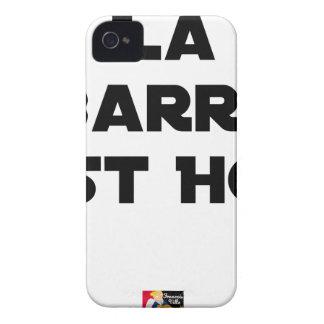 Coque Case-Mate iPhone 4 LA BARRE EST HOT - Jeux de mots - Francois Ville