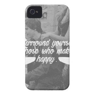Coque Case-Mate iPhone 4 La bordure vous-même soit heureuse