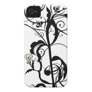Coque Case-Mate iPhone 4 La musique note l'ornement floral 2