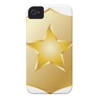 Coque Case-Mate iPhone 4 La police d'or Badge