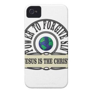 Coque Case-Mate iPhone 4 La puissance de Jésus pardonnent le péché en monde