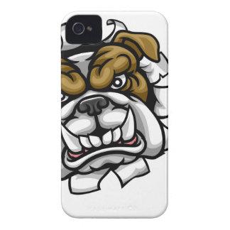 Coque Case-Mate iPhone 4 Le football américain de bouledogue folâtre la