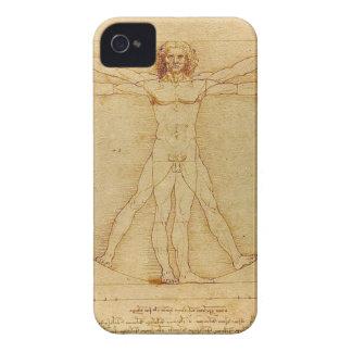 Coque Case-Mate iPhone 4 Leonardo da Vinci - peinture d'homme de Vitruvian
