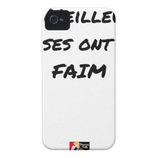 Coque Case-Mate iPhone 4 LES MEILLEURES CHOSES ONT UNE FAIM - Jeux de mots
