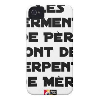 COQUE Case-Mate iPhone 4 LES SERMENTS DE PÈRE SONT DES SERPENTS DE MÈRE
