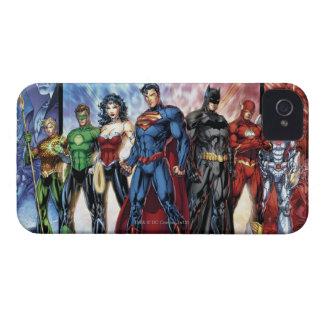 Coque Case-Mate iPhone 4 Ligne de ligue de justice 52 de la ligue de