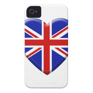 Coque Case-Mate iPhone 4 love drapeau Royaume-uni Angleterre