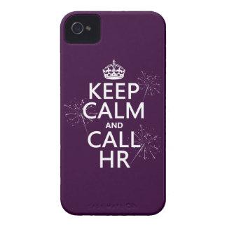 Coque Case-Mate iPhone 4 Maintenez calme et l'appel heure (toute couleur)