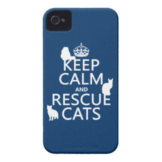 Coque Case-Mate iPhone 4 Maintenez les chats calmes et de délivrance (dans