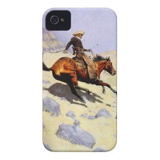 Coque Case-Mate iPhone 4 Militaires vintages de cavalerie, le cowboy par