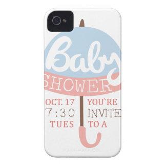 Coque Case-Mate iPhone 4 Modèle de conception d'invitation de baby shower