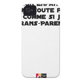 COQUE Case-Mate iPhone 4 MON ENFANT NE M'ÉCOUTE PAS, C'EST COMME SI J'ÉTAIS