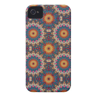 Coque Case-Mate iPhone 4 Motif floral ethnique abstrait coloré de mandala