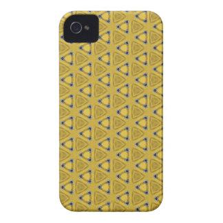 Coque Case-Mate iPhone 4 Motif triangulaire jaune