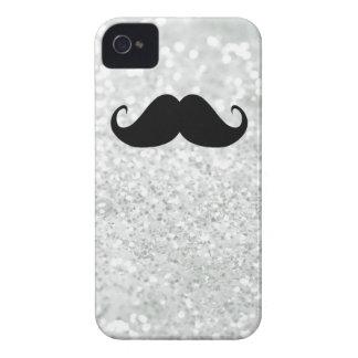 Coque Case-Mate iPhone 4 Moustache et étincelle noires drôles Bling de