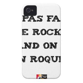 Coque Case-Mate iPhone 4 Ne pas faire le ROCKY quand on est un ROQUET