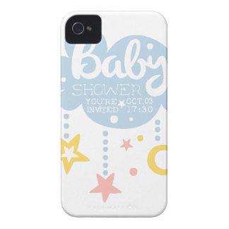 Coque Case-Mate iPhone 4 Nuage et Temp de conception d'invitation de baby