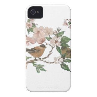 Coque Case-Mate iPhone 4 Oiseaux et fleurs