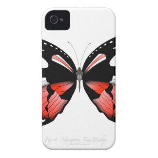 Coque Case-Mate iPhone 4 papillon de rouge de la figue 4 par les fernandes