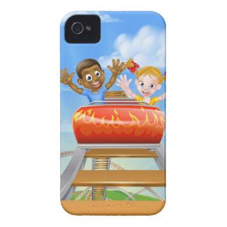 Coque Case-Mate iPhone 4 Parc à thème juste de montagnes russes