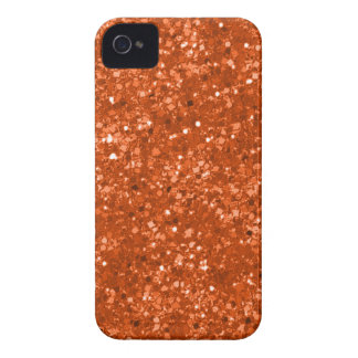 Coque Case-Mate iPhone 4 Parties scintillantes oranges de Faux