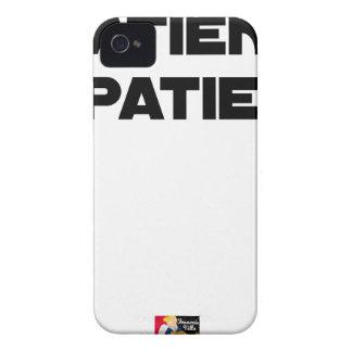 Coque Case-Mate iPhone 4 PATIENT IMPATIENT - Jeux de mots - Francois Ville
