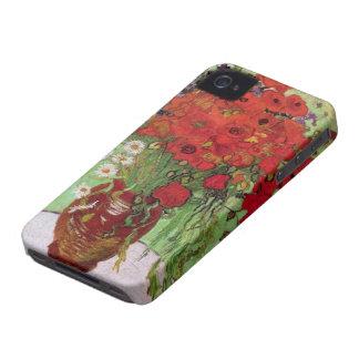 Coque Case-Mate iPhone 4 Pavots de Van Gogh et marguerites rouges, fleurs