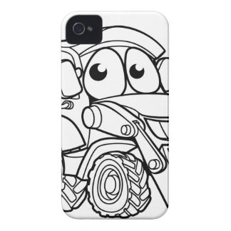 Coque Case-Mate iPhone 4 Personnage de dessin animé de bêcheur de bouteur
