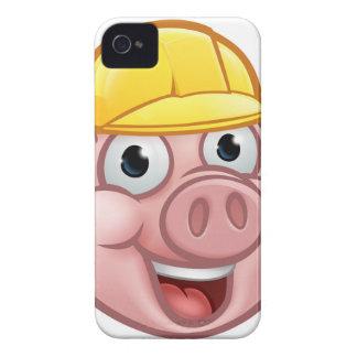 Coque Case-Mate iPhone 4 Personnage de dessin animé de porc de constructeur