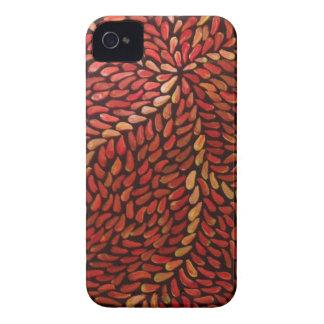 Coque Case-Mate iPhone 4 Petit feuille rouge