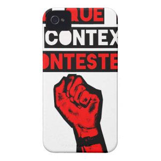 Coque Case-Mate iPhone 4 Quelque soit le CONTEXTE CONTESTE ! - Jeux de Mots