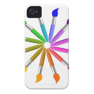 Coque Case-Mate iPhone 4 Roue de couleur de pinceau, théorie de couleur de