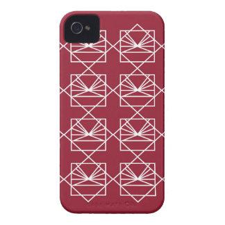 Coque Case-Mate iPhone 4 Rouge sauvage d'éléments de conception avec le