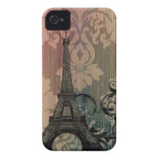 Coque Case-Mate iPhone 4 Tour Eiffel romantique de Paris de damassé