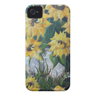 Coque Case-Mate iPhone 4 Tournesols dans un pot de pays