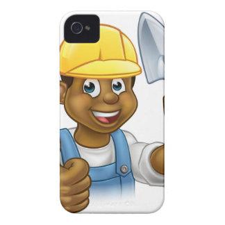 Coque Case-Mate iPhone 4 Travailleur noir de maçon de constructeur avec
