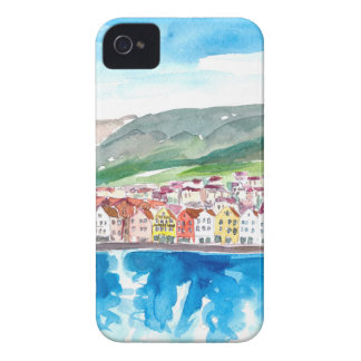 Coque Case-Mate iPhone 4 Vieux Bryggen bord de mer de port de Bergen