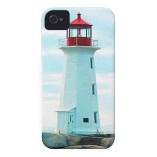Coque Case-Mate iPhone 4 Vieux phare, océan bleu, maritime, nautique
