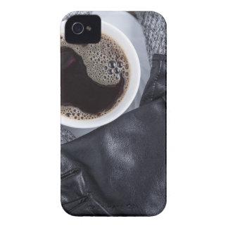 Coque Case-Mate iPhone 4 Vue supérieure d'une tasse blanche avec du café