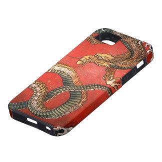 Coque Case-Mate iPhone 5 beaux-arts de Hokusai de dragon de 北斎