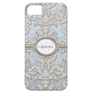 Coque Case-Mate iPhone 5 Damassé de feuille florale d'étincelle d'Iphone 5
