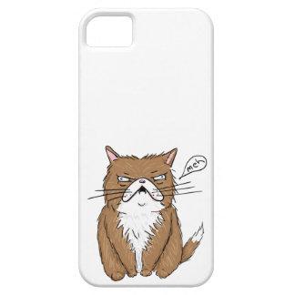 Coque Case-Mate iPhone 5 Dessin grincheux drôle de chat de Meh