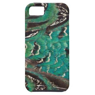 Coque Case-Mate iPhone 5 Détail de plume de faisan de turquoise