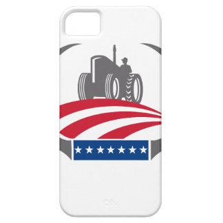 Coque Case-Mate iPhone 5 Drapeau américain de tracteur de ferme d'Antler