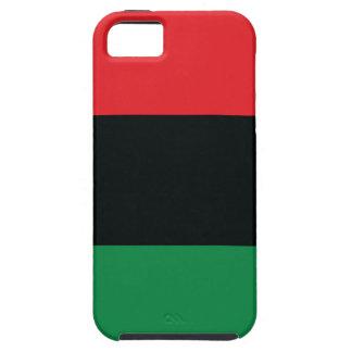 Coque Case-Mate iPhone 5 Drapeau rouge, noir et vert