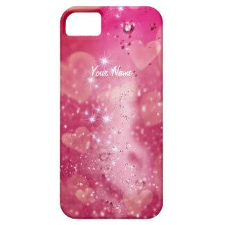 Coque Case-Mate iPhone 5 Étincelle de coeur de cerise - personnaliser