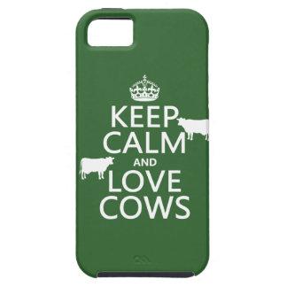 Coque Case-Mate iPhone 5 Gardez le calme et aimez les vaches (toutes les