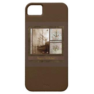 Coque Case-Mate iPhone 5 Joyeux anniversaire, bateaux grands, ancre,